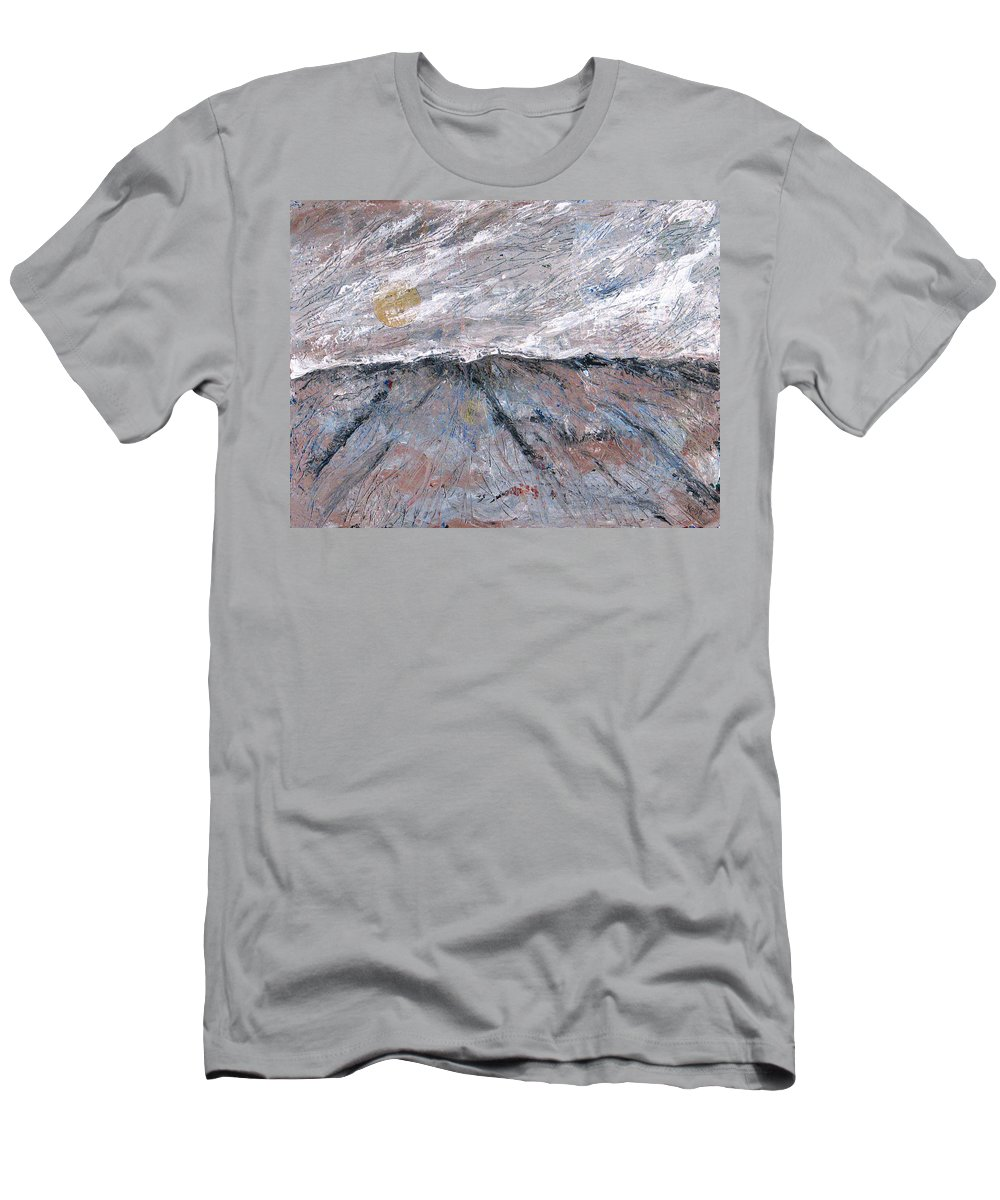 Mountains T-Shirt featuring the painting Somewhere Higher by Rollin Kocsis