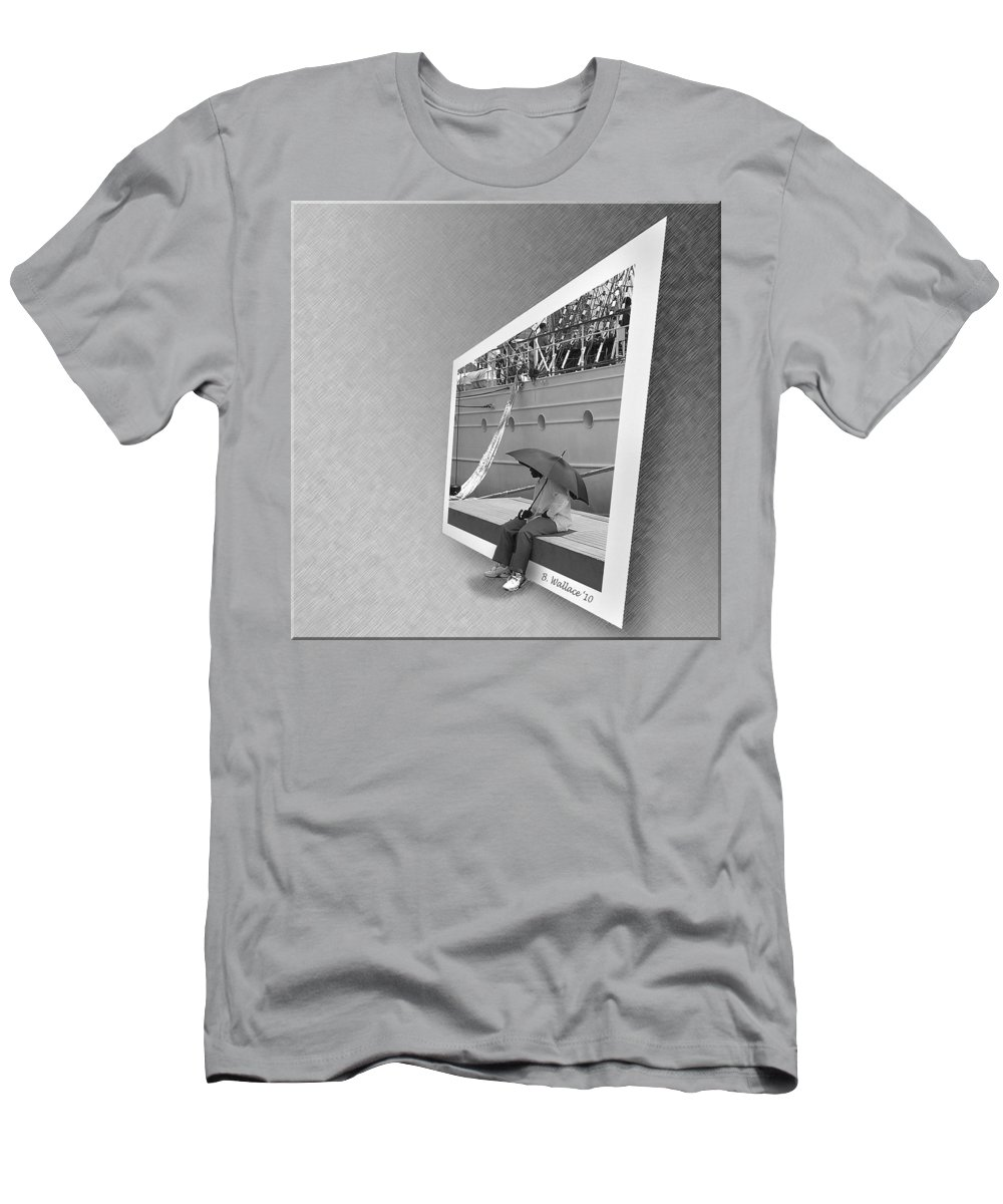 2d Men's T-Shirt (Athletic Fit) featuring the photograph Somewhere It Is Raining by Brian Wallace