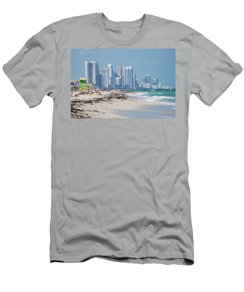 South Beach Men's T-Shirt (Athletic Fit) featuring the photograph South Beach Baby by Rob Hans