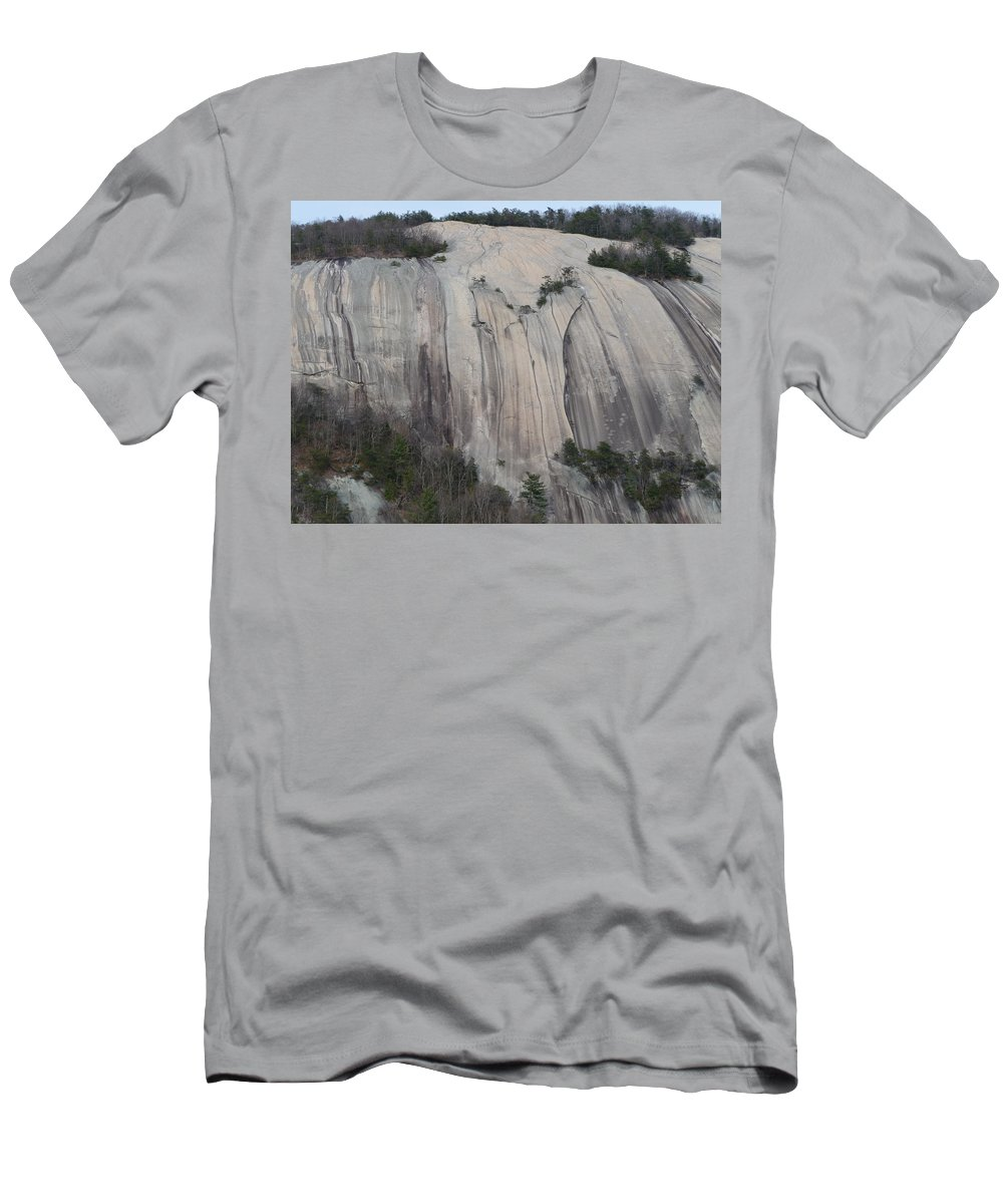Stone Mountain Men's T-Shirt (Athletic Fit) featuring the photograph South Face - Stone Mountain by Joel Deutsch