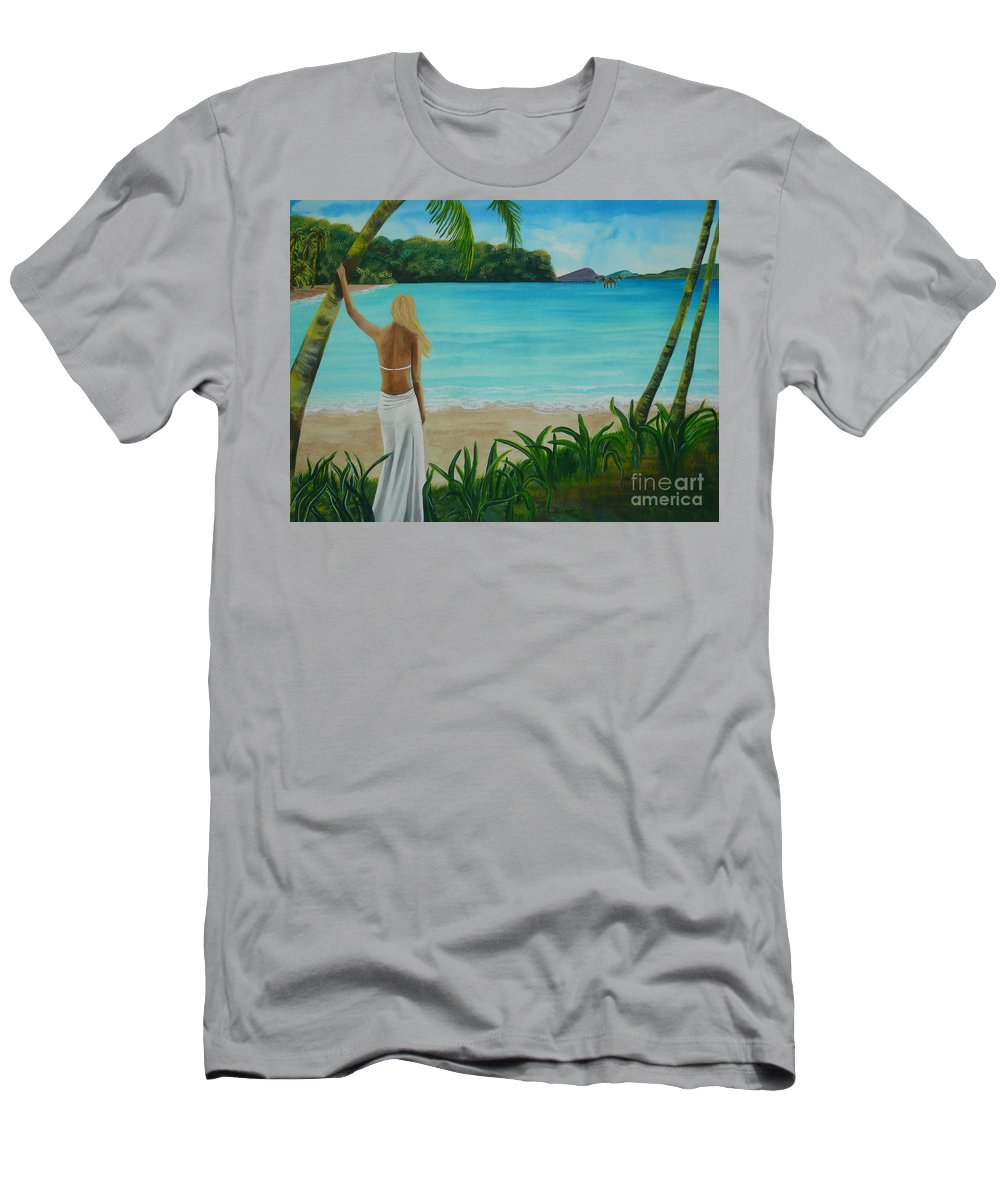 Tropical Men's T-Shirt (Athletic Fit) featuring the painting South Pacific Dreamin by Kris Crollard