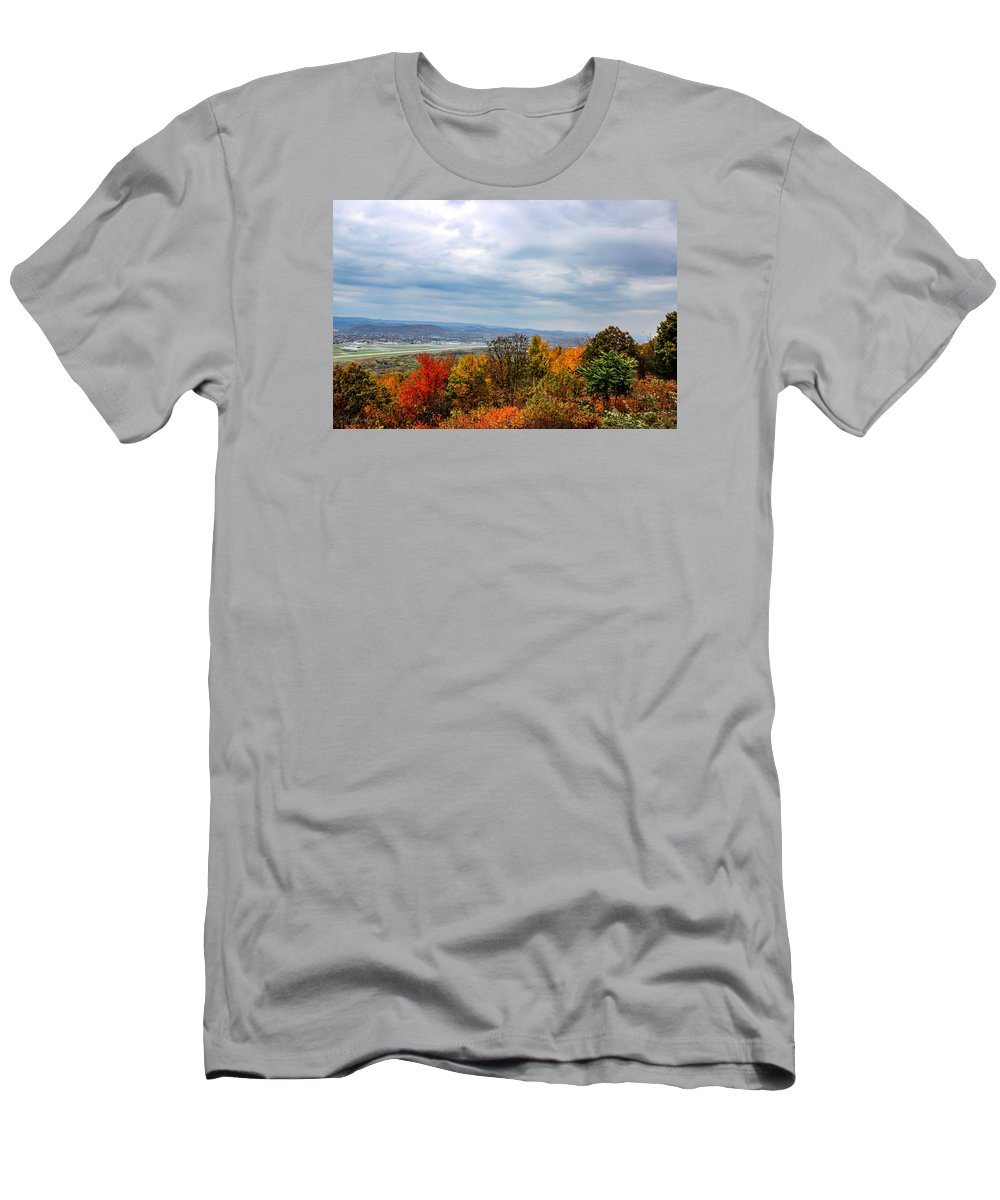 Landscape Men's T-Shirt (Athletic Fit) featuring the photograph South Williamsport Foliage by Travis Boyd