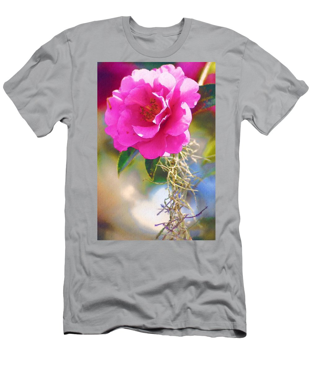 Rose Men's T-Shirt (Athletic Fit) featuring the digital art Southern Rose by Donna Bentley