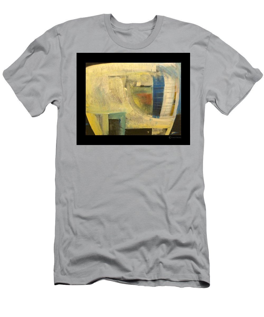 Dog Men's T-Shirt (Athletic Fit) featuring the painting Space Dog by Tim Nyberg