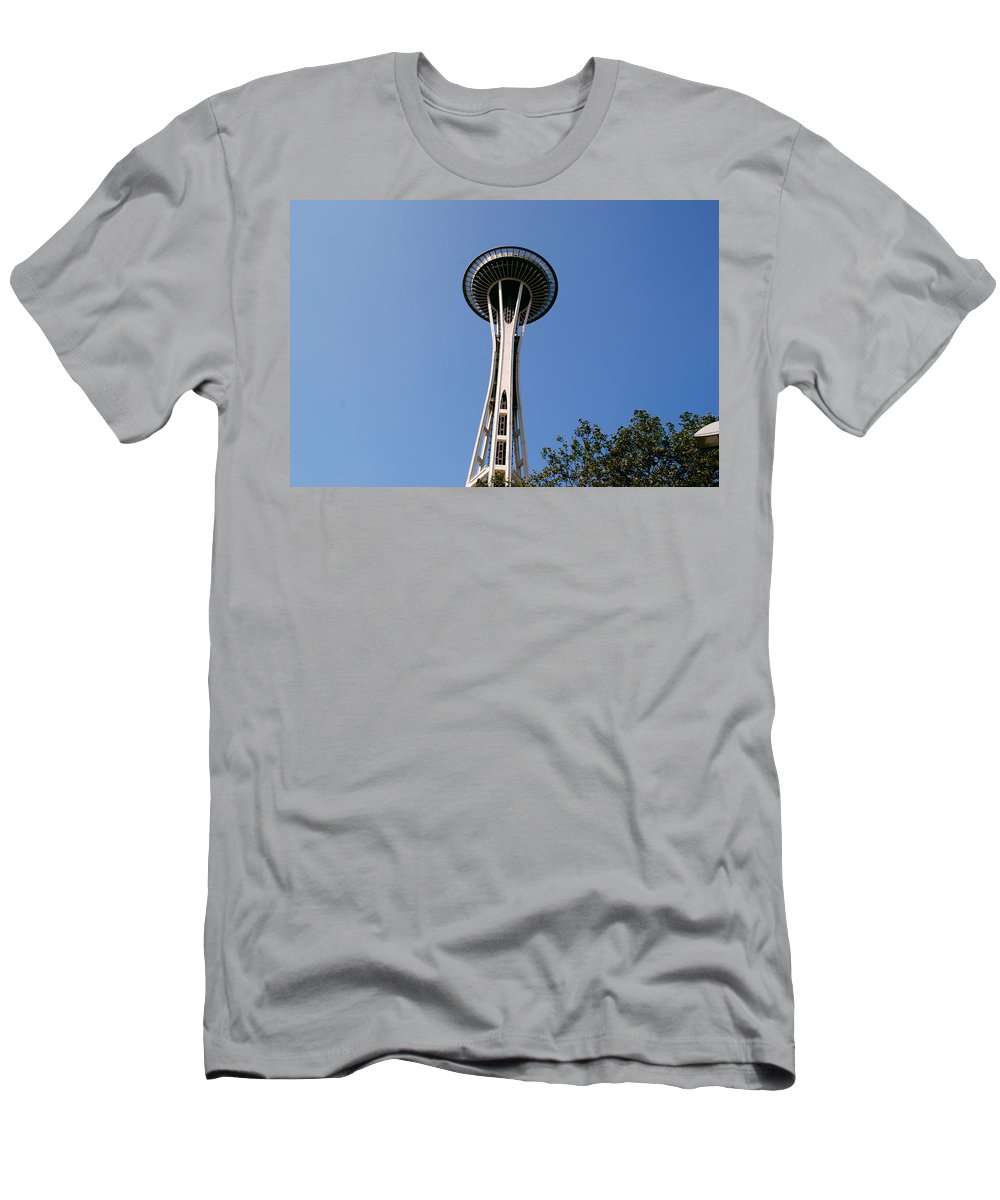Space Needle Men's T-Shirt (Athletic Fit) featuring the photograph Space Needle by Gary Wonning