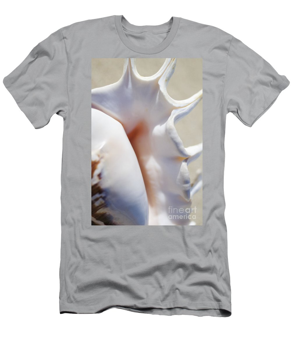 Background Men's T-Shirt (Athletic Fit) featuring the photograph Spider Conch Shell by Mary Van de Ven - Printscapes