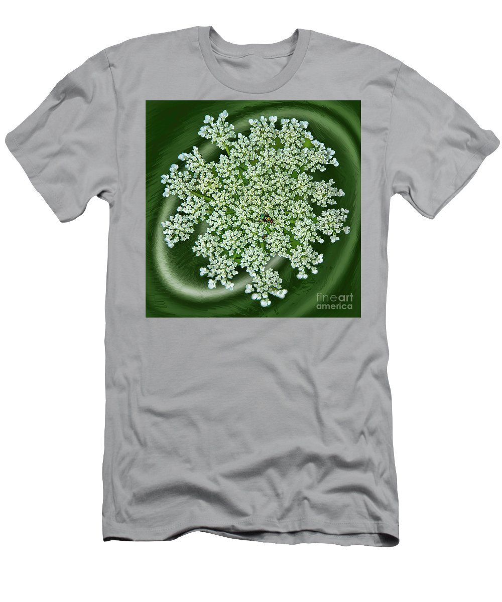 Fly Men's T-Shirt (Athletic Fit) featuring the photograph Spinning Lace by Maggie Magee Molino