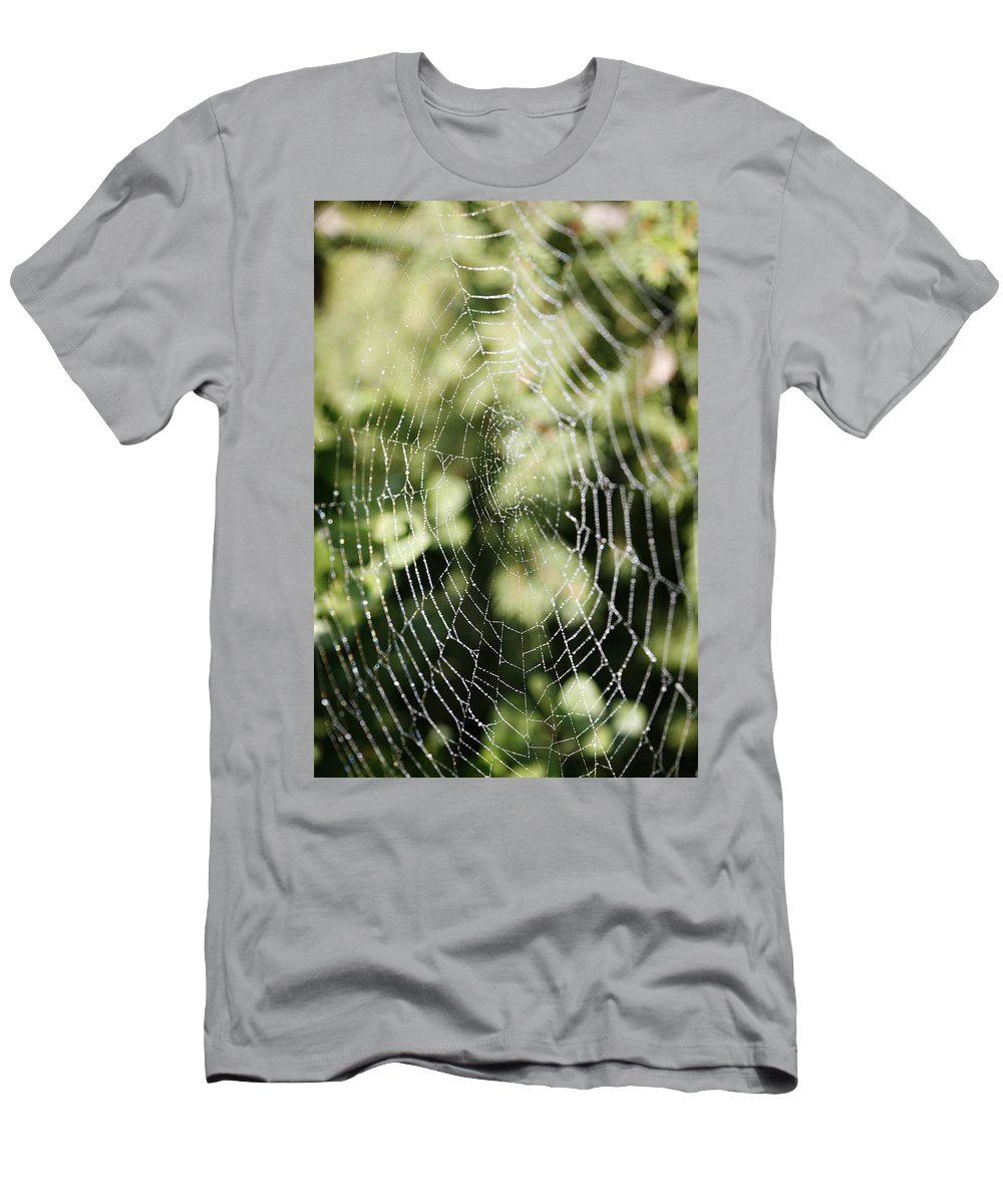 Spider Men's T-Shirt (Athletic Fit) featuring the photograph Spinning Out Of Control by Marilyn Hunt