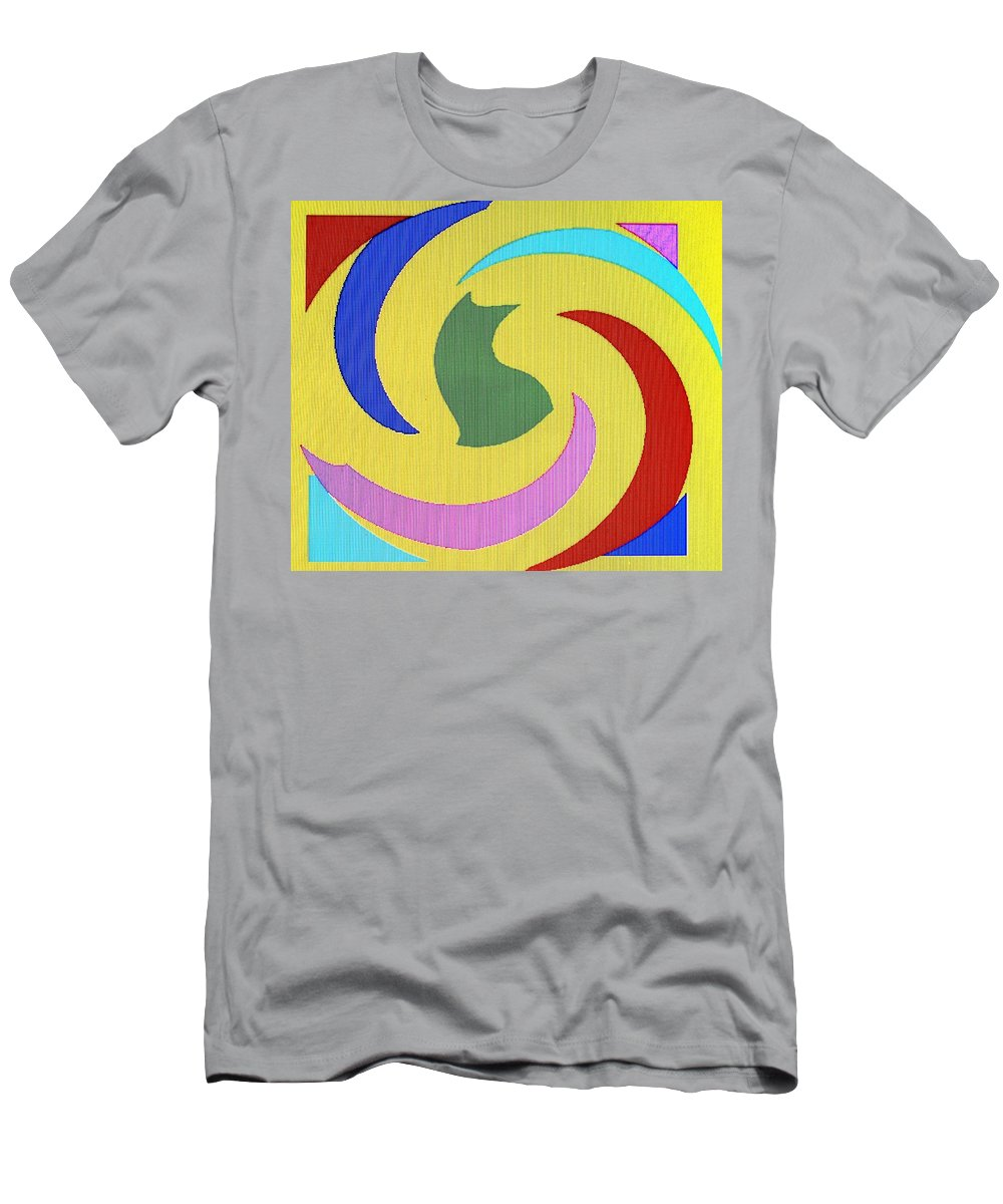 Abstract Men's T-Shirt (Athletic Fit) featuring the digital art Spiral Three by Ian MacDonald