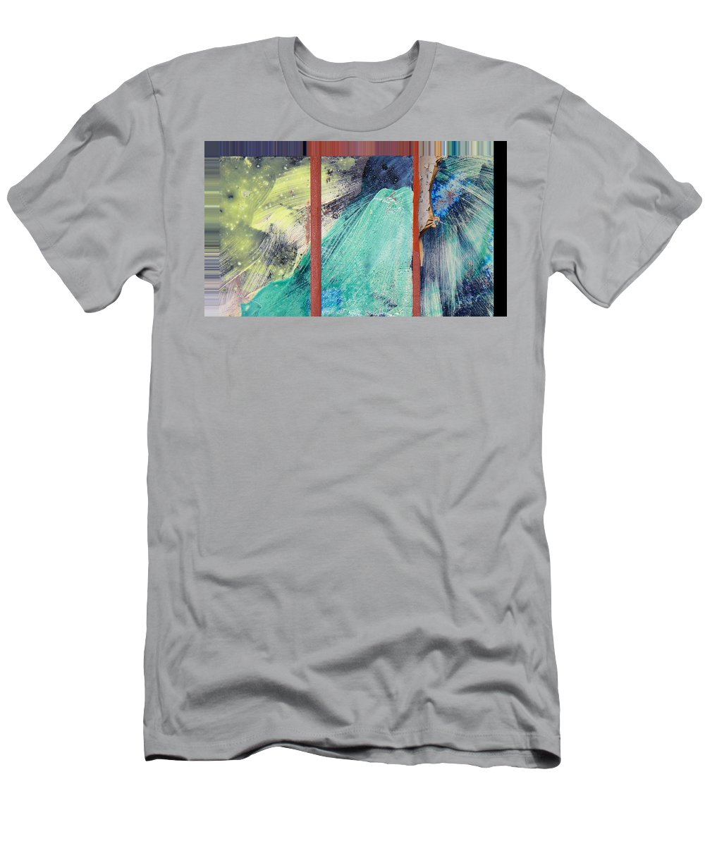 Abstract Men's T-Shirt (Athletic Fit) featuring the digital art Spray by Lenore Senior