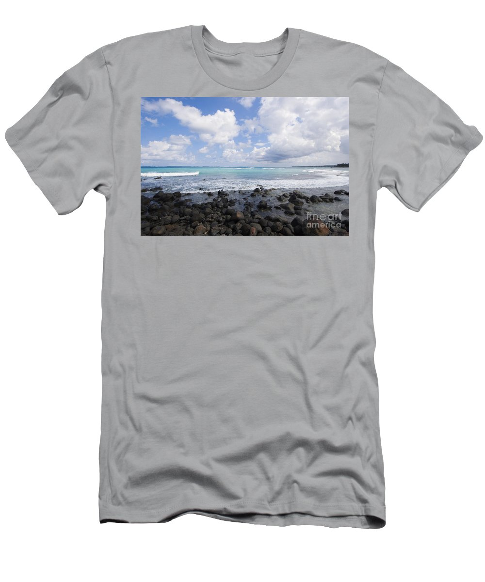 Beach Men's T-Shirt (Athletic Fit) featuring the photograph Spreckelsville, Rocky Sho by Ron Dahlquist - Printscapes