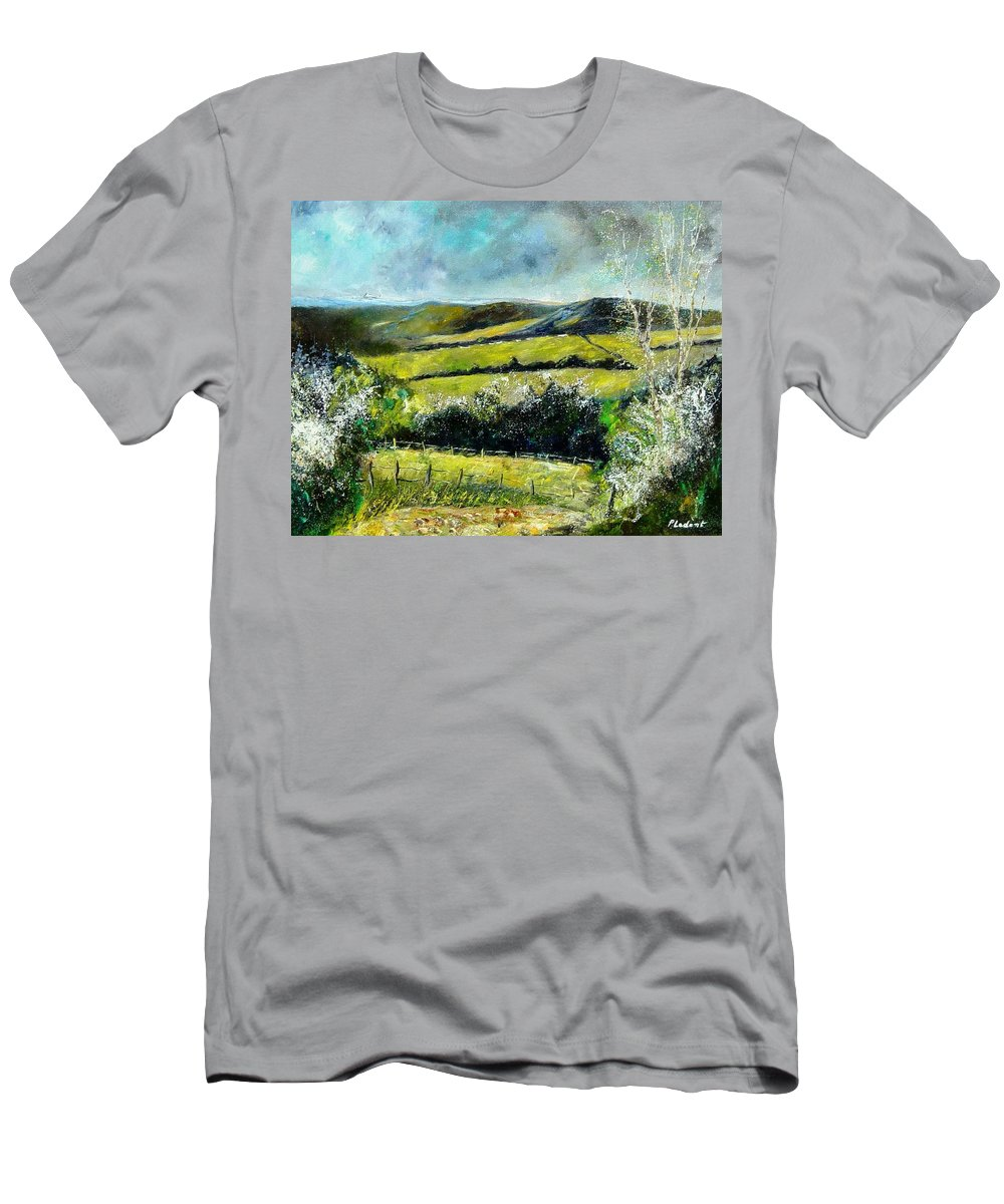 Landscape Men's T-Shirt (Athletic Fit) featuring the print Spring 79 by Pol Ledent
