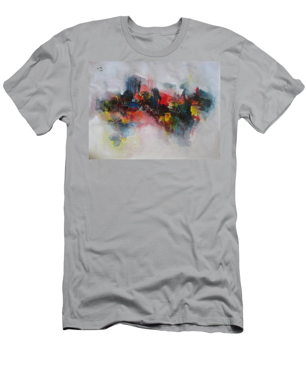 Painting Men's T-Shirt (Athletic Fit) featuring the painting Spring Fever51 by Seon-Jeong Kim