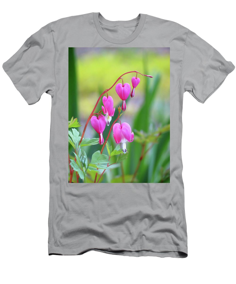 Bleeding Heart Men's T-Shirt (Athletic Fit) featuring the photograph Spring Hearts - Flowers by MTBobbins Photography