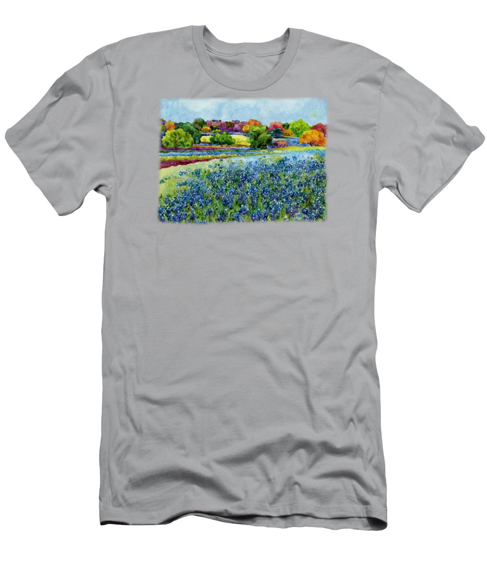 Bluebonnet T-Shirt featuring the painting Spring Impressions by Hailey E Herrera