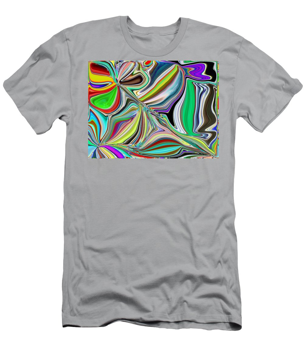 Abstract Men's T-Shirt (Athletic Fit) featuring the digital art Spring Kaleidoscope by Tim Allen