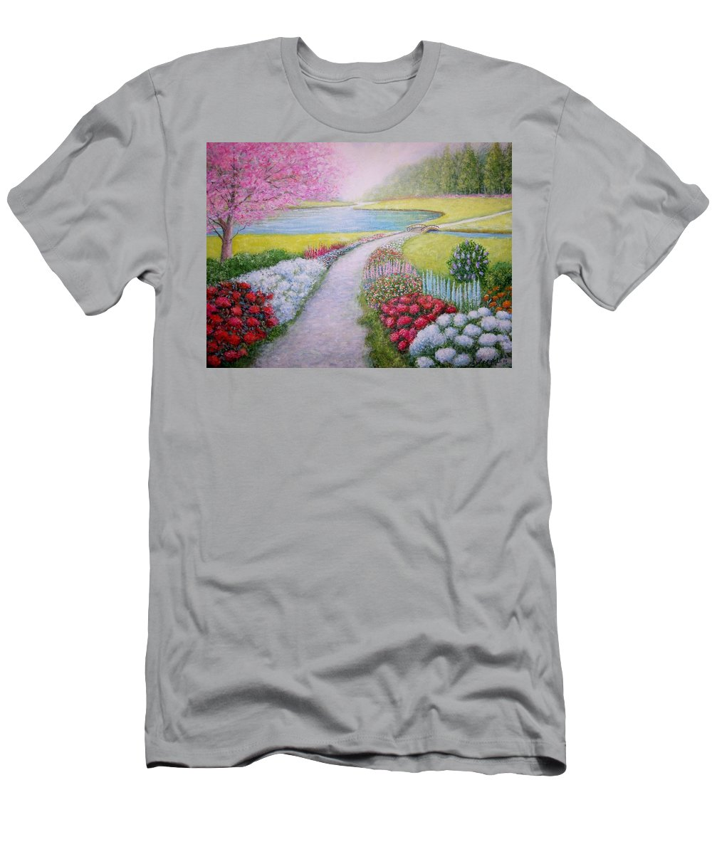 Landscape Men's T-Shirt (Athletic Fit) featuring the painting Spring by William H RaVell III