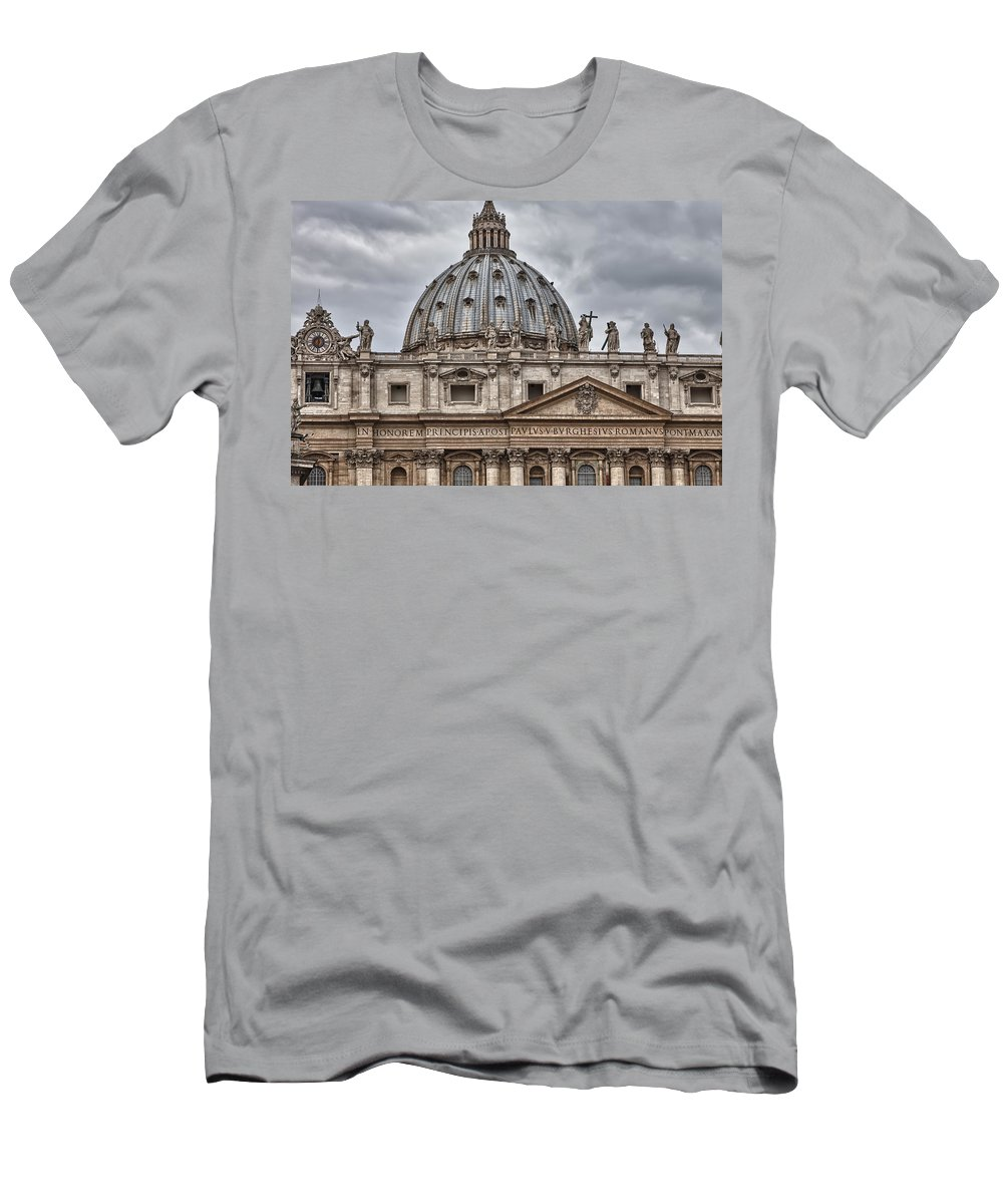 Italy Men's T-Shirt (Athletic Fit) featuring the photograph St. Peter's Basilica by Janet Fikar