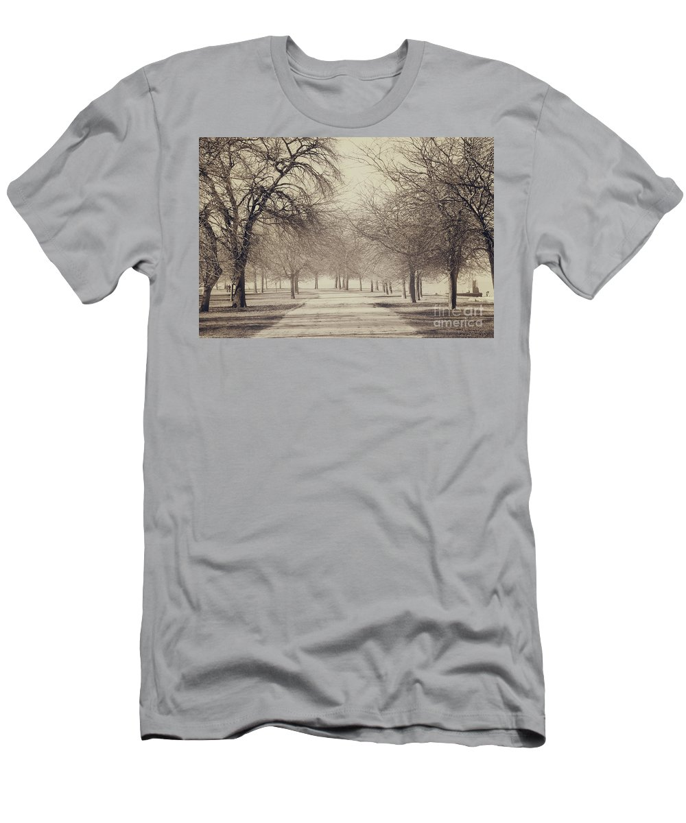 Trees Men's T-Shirt (Athletic Fit) featuring the photograph Stand Where I Stood by Dana DiPasquale
