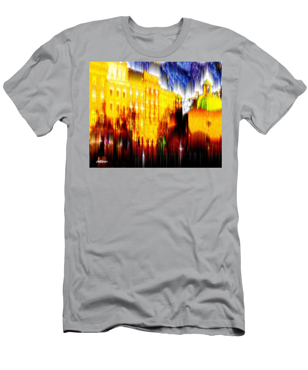Old World Men's T-Shirt (Athletic Fit) featuring the digital art Starry Night In Prague by Seth Weaver