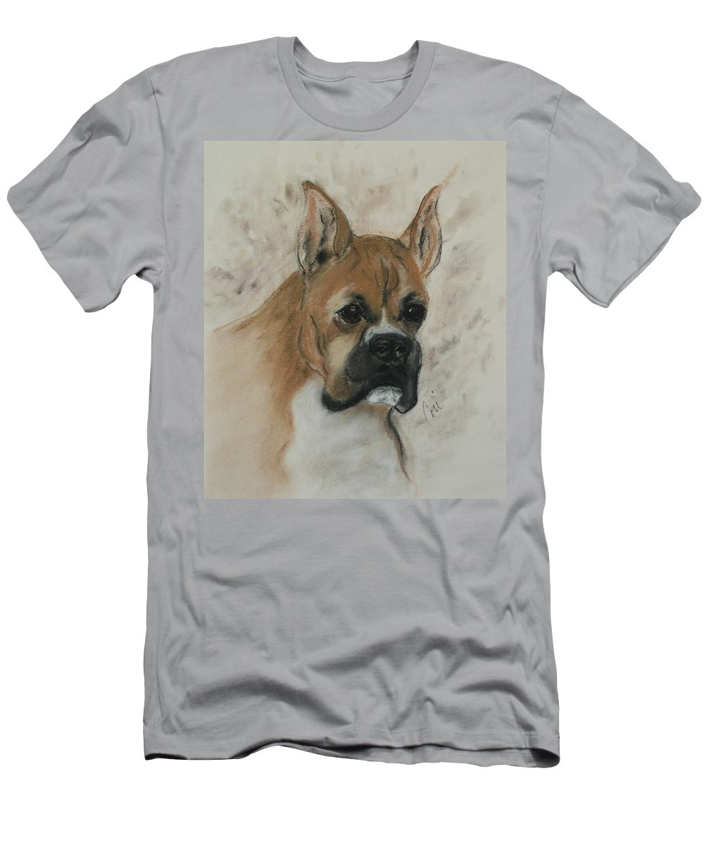 Dog Men's T-Shirt (Athletic Fit) featuring the drawing Steady Goes It by Cori Solomon