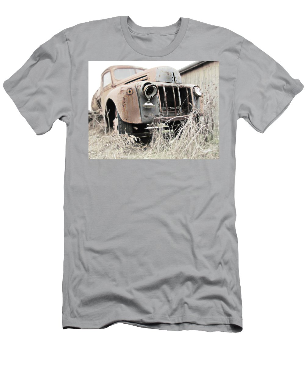 Truck Men's T-Shirt (Athletic Fit) featuring the photograph Steel Tough by Karen Smith