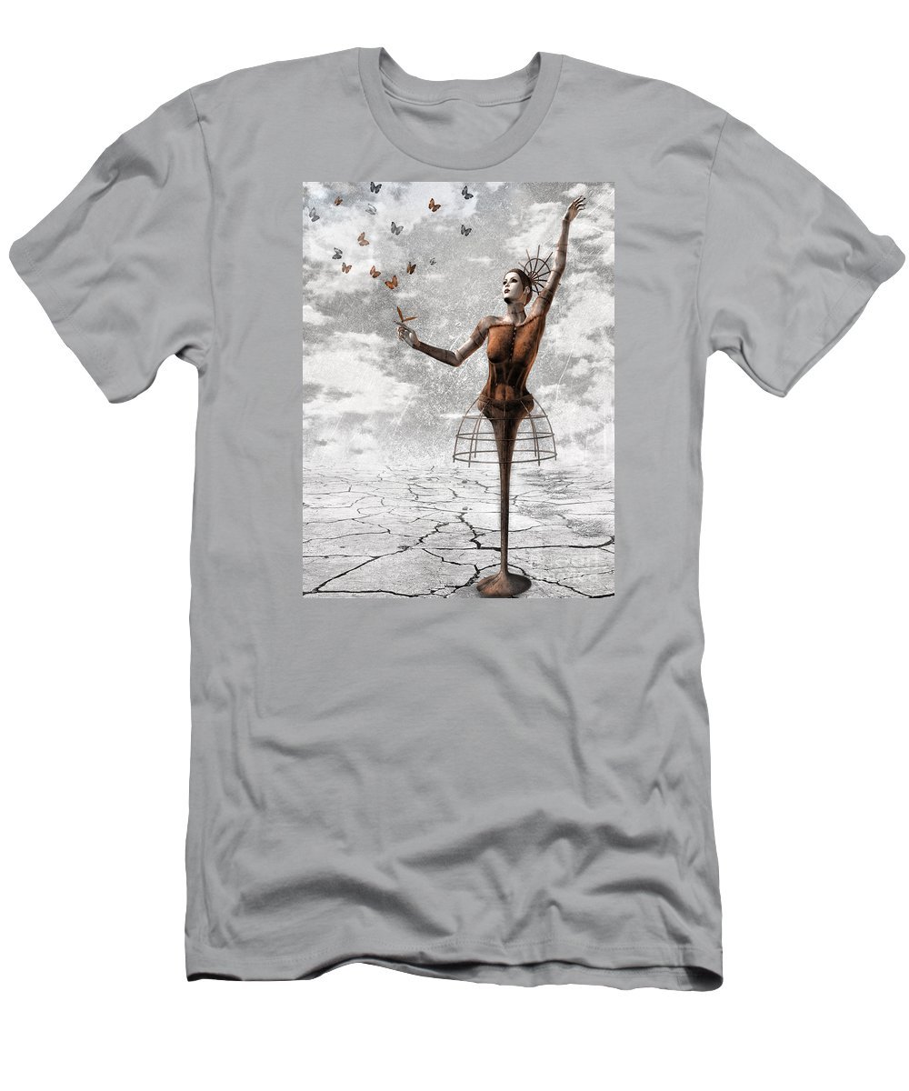 Surreal Men's T-Shirt (Athletic Fit) featuring the painting Still Believe by Jacky Gerritsen