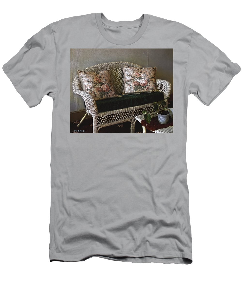 Antiques Men's T-Shirt (Athletic Fit) featuring the painting Still Life In Rough Plaster by RC DeWinter