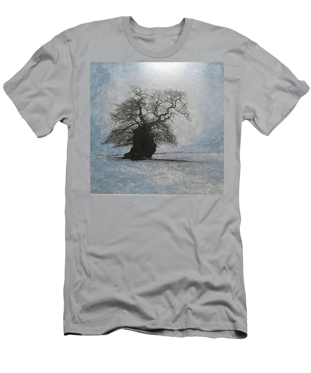 Silhouette Men's T-Shirt (Slim Fit) featuring the painting Stilton Silhouette by Leah Tomaino