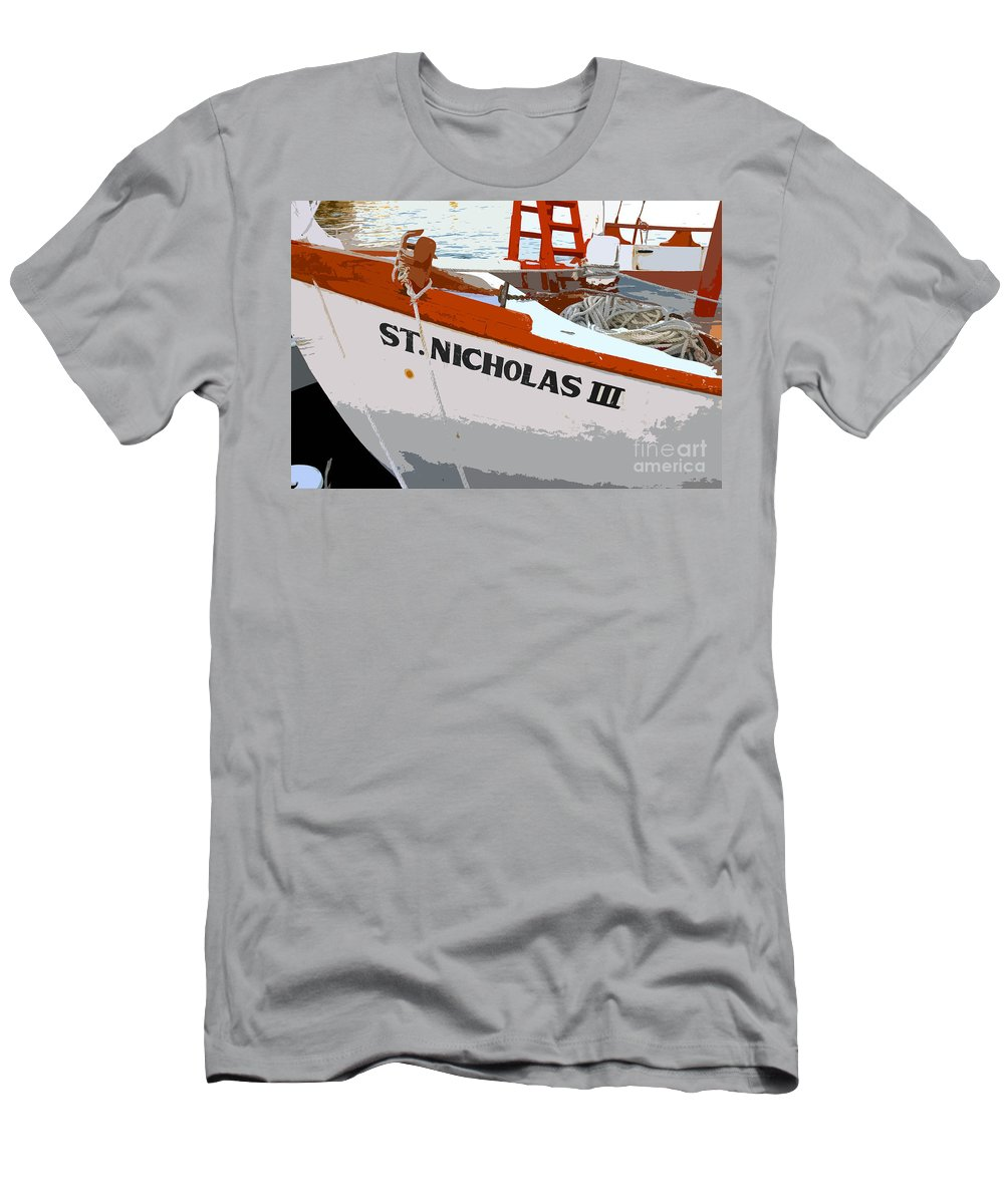 Sponge Boat Men's T-Shirt (Athletic Fit) featuring the painting St.nicholas Three by David Lee Thompson