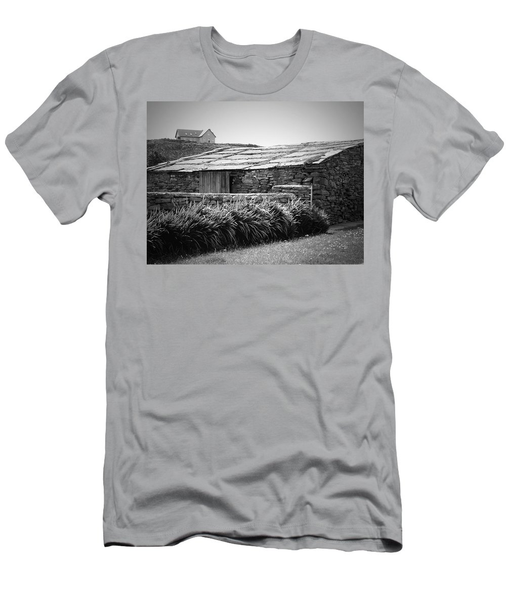 Irish Men's T-Shirt (Athletic Fit) featuring the photograph Stone Structure Doolin Ireland by Teresa Mucha