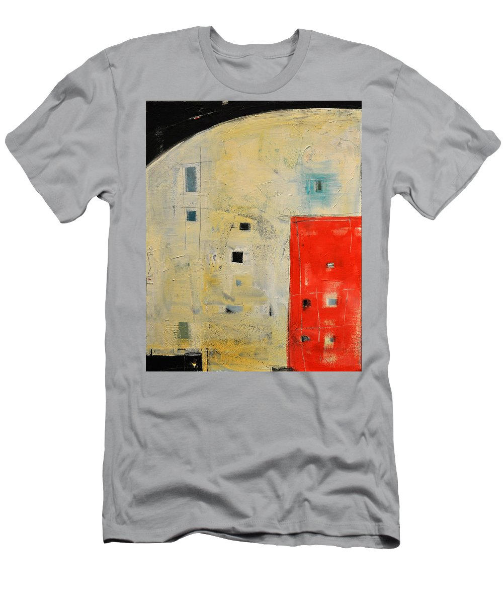 Abstract Men's T-Shirt (Athletic Fit) featuring the painting Storage Shed by Tim Nyberg