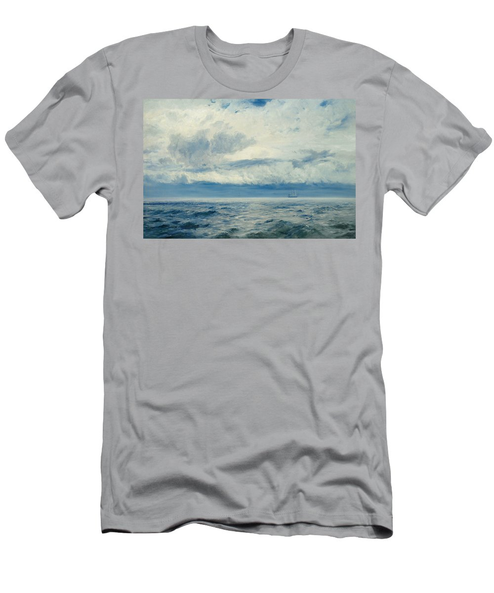 Storm Men's T-Shirt (Athletic Fit) featuring the painting Storm Brewing by Henry Moore