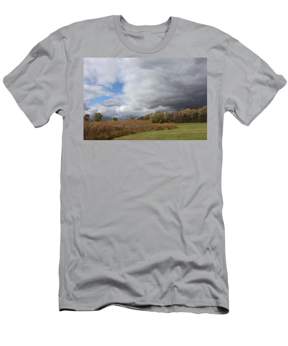 Landscape Men's T-Shirt (Athletic Fit) featuring the photograph Storm Is Brewing by Lauri Novak