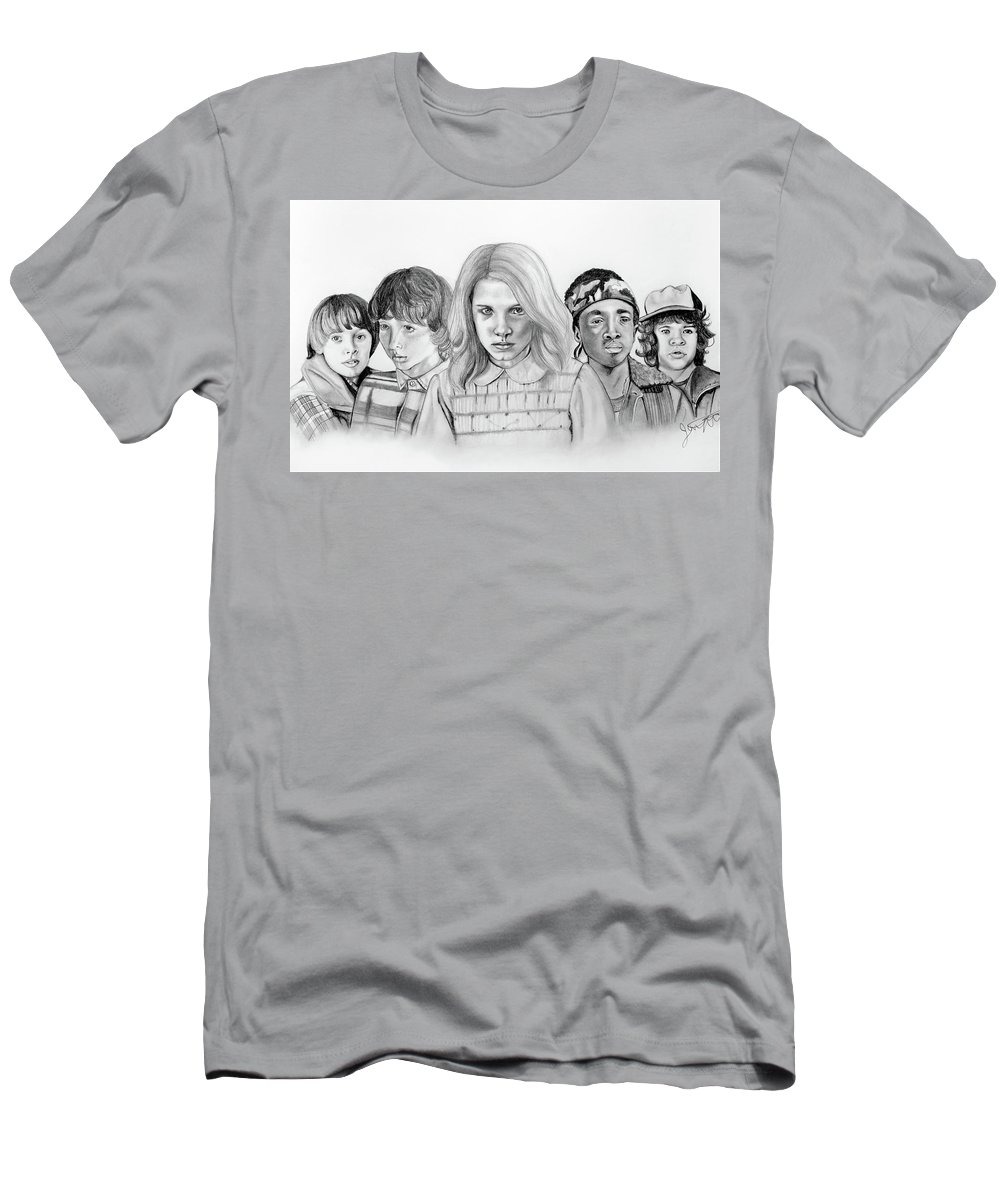 9b8e906f Stranger Things Men's T-Shirt (Athletic Fit) featuring the drawing Stranger  Things Kids