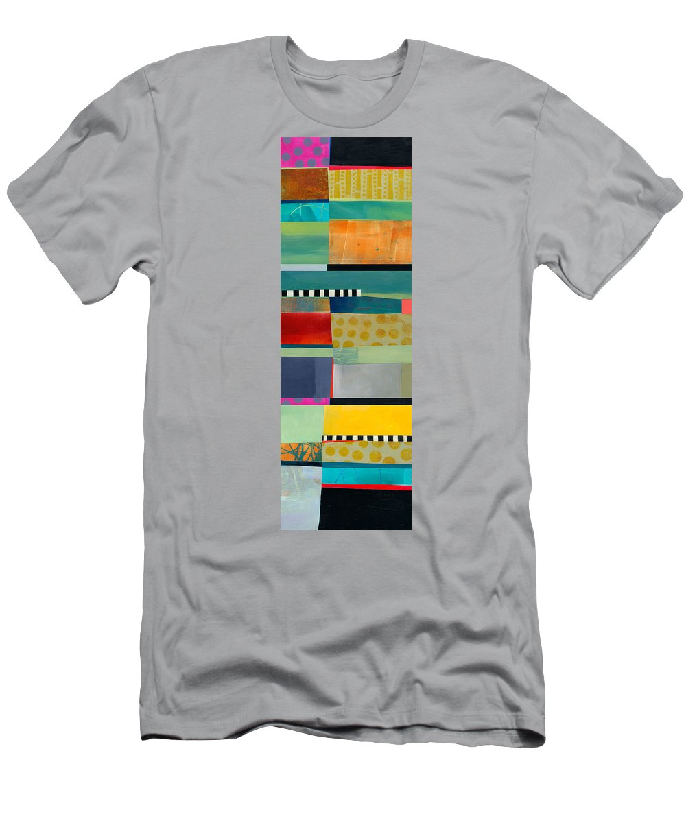 Abstract Art T-Shirt featuring the painting Stripe Assemblage 2 by Jane Davies