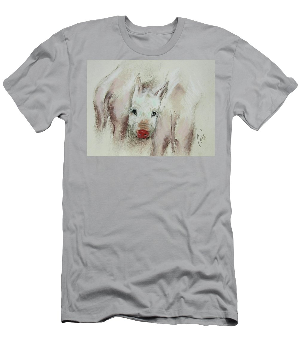 Animal Men's T-Shirt (Athletic Fit) featuring the drawing Stuck In The Middle by Cori Solomon