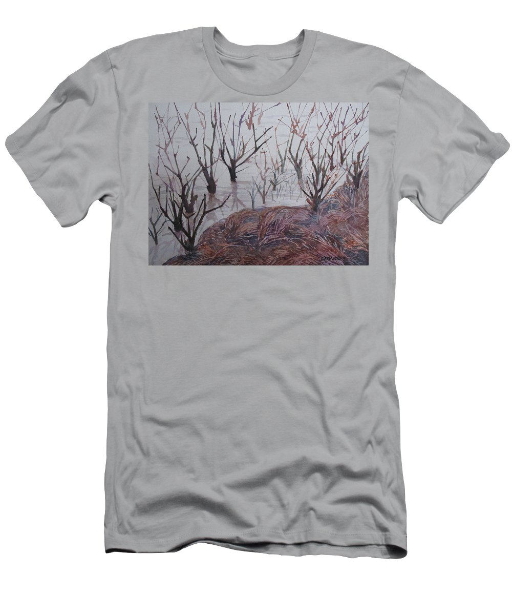 Willamette Men's T-Shirt (Athletic Fit) featuring the painting Submerged I by Jenny Armitage