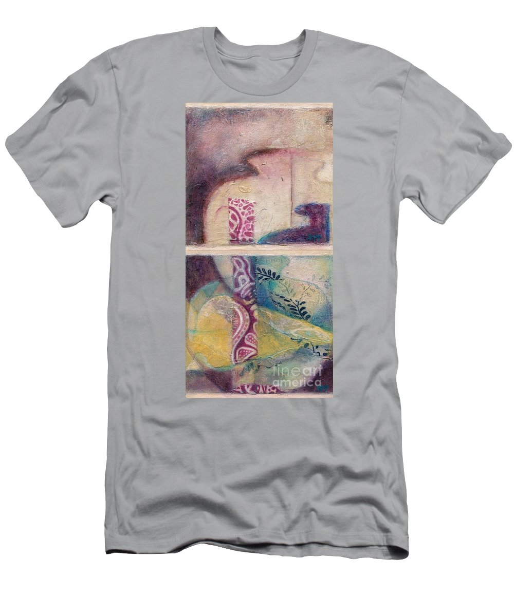 Vessel Men's T-Shirt (Athletic Fit) featuring the painting Suffusion by Kerryn Madsen-Pietsch