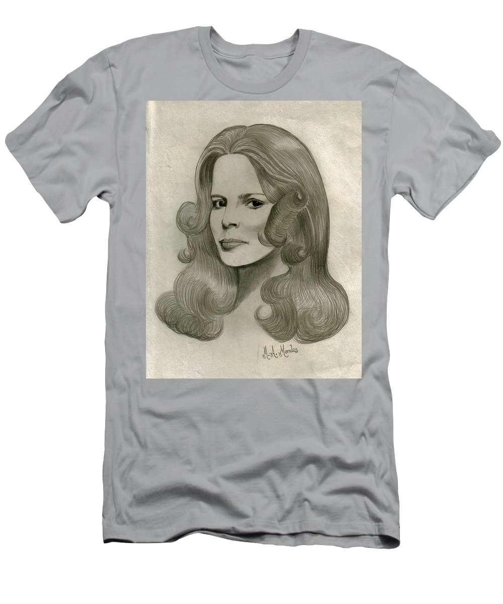 Drawing Men's T-Shirt (Athletic Fit) featuring the drawing Sultry Smile by Marco Morales