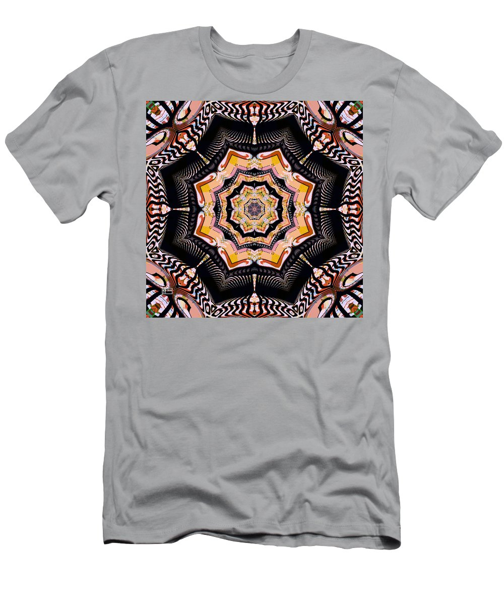 Abstract Men's T-Shirt (Athletic Fit) featuring the digital art Summer Blend by Jim Pavelle