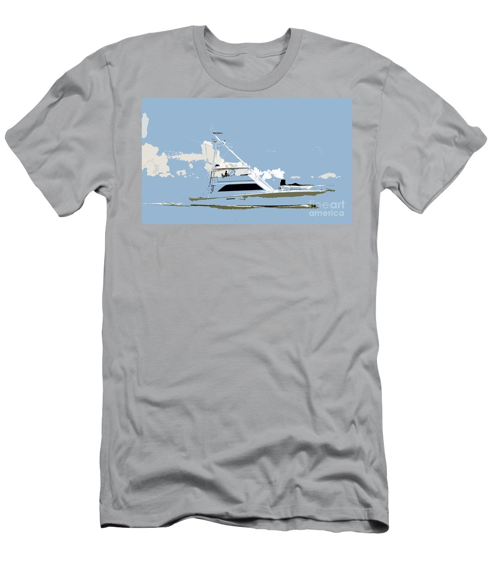 Boat Men's T-Shirt (Athletic Fit) featuring the photograph Summer Freedom by David Lee Thompson