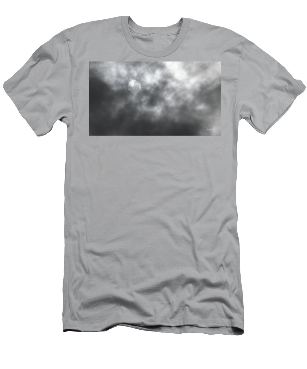 Sun Men's T-Shirt (Athletic Fit) featuring the photograph Sun Through The Clouds by Mick Anderson