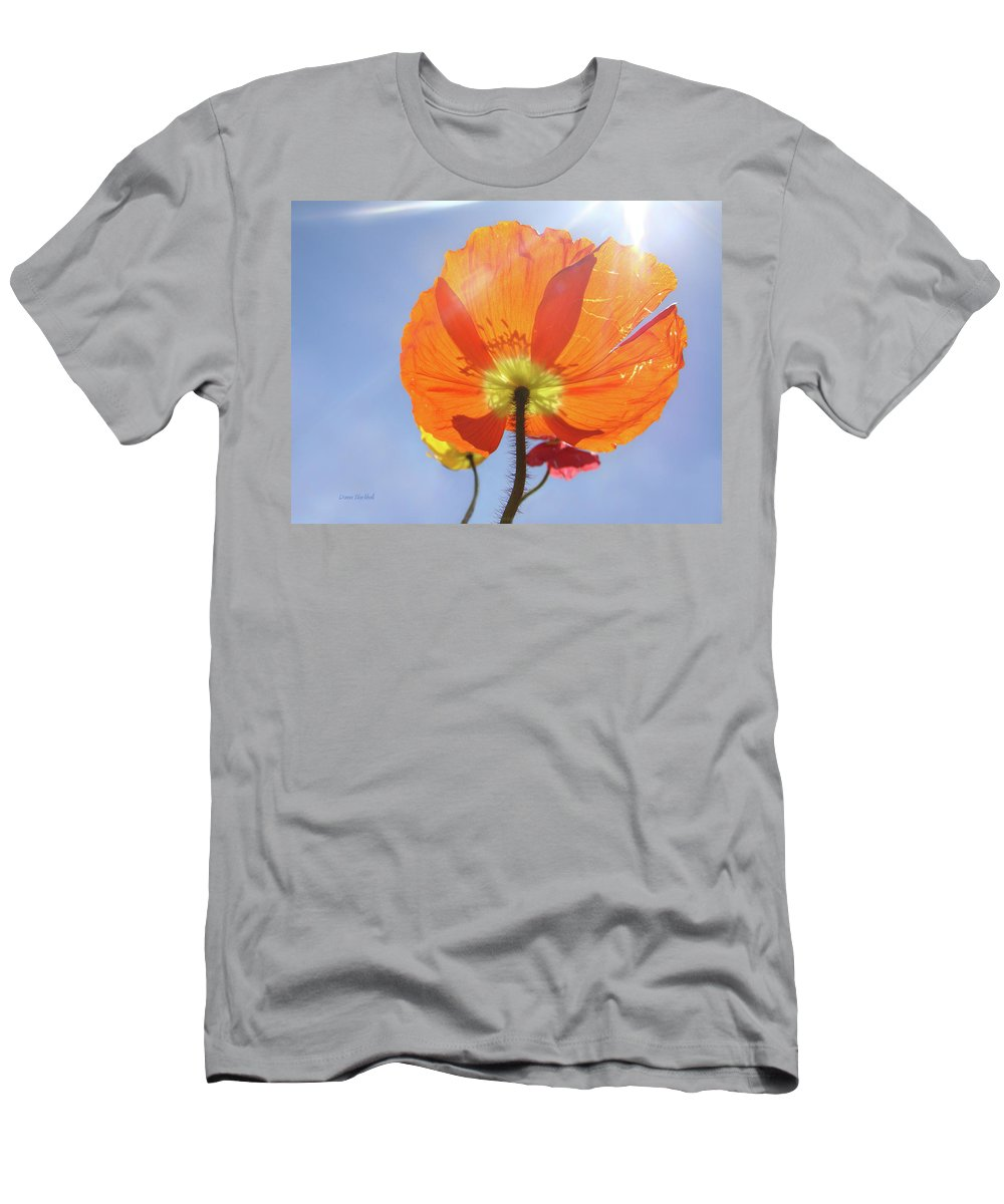 Poppy Men's T-Shirt (Athletic Fit) featuring the photograph Sunburned by Donna Blackhall