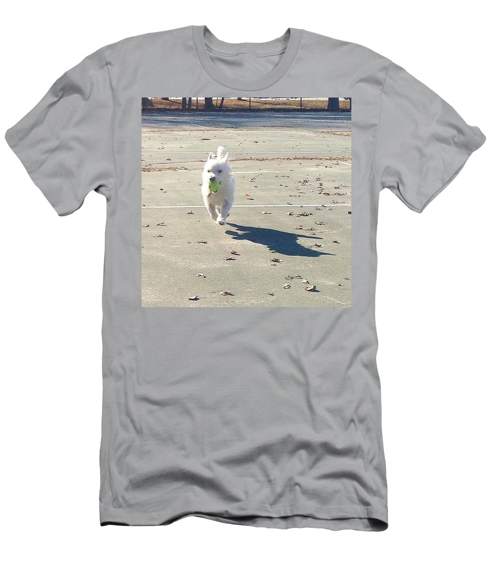 Westie Men's T-Shirt (Athletic Fit) featuring the photograph Sunday Funday by Kate Arsenault