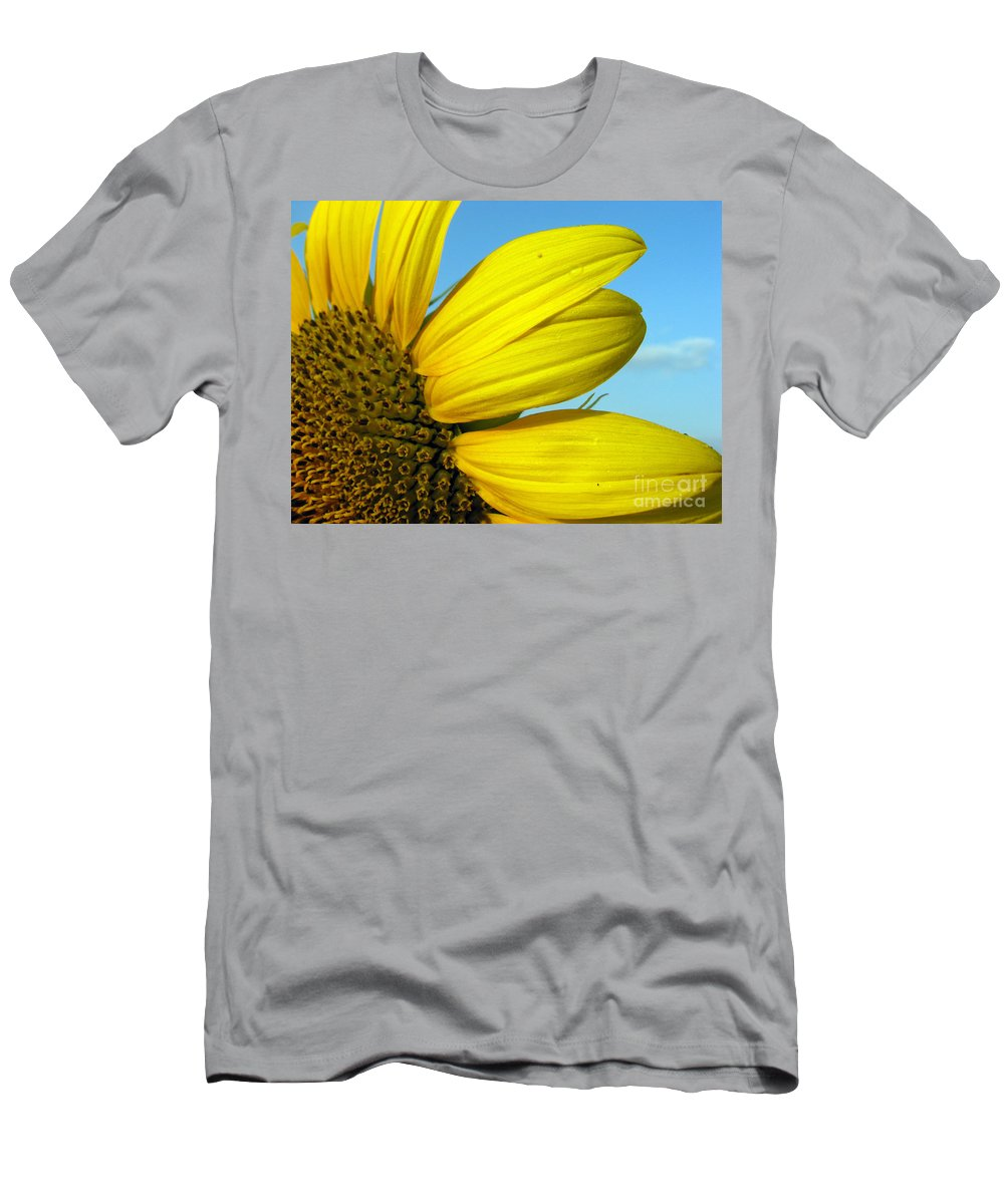 Sunflowers Men's T-Shirt (Athletic Fit) featuring the photograph Sunflower by Amanda Barcon
