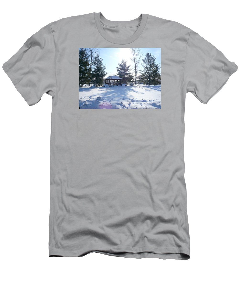 Sunlight Men's T-Shirt (Athletic Fit) featuring the photograph Sunlight In Winter by Connie Young