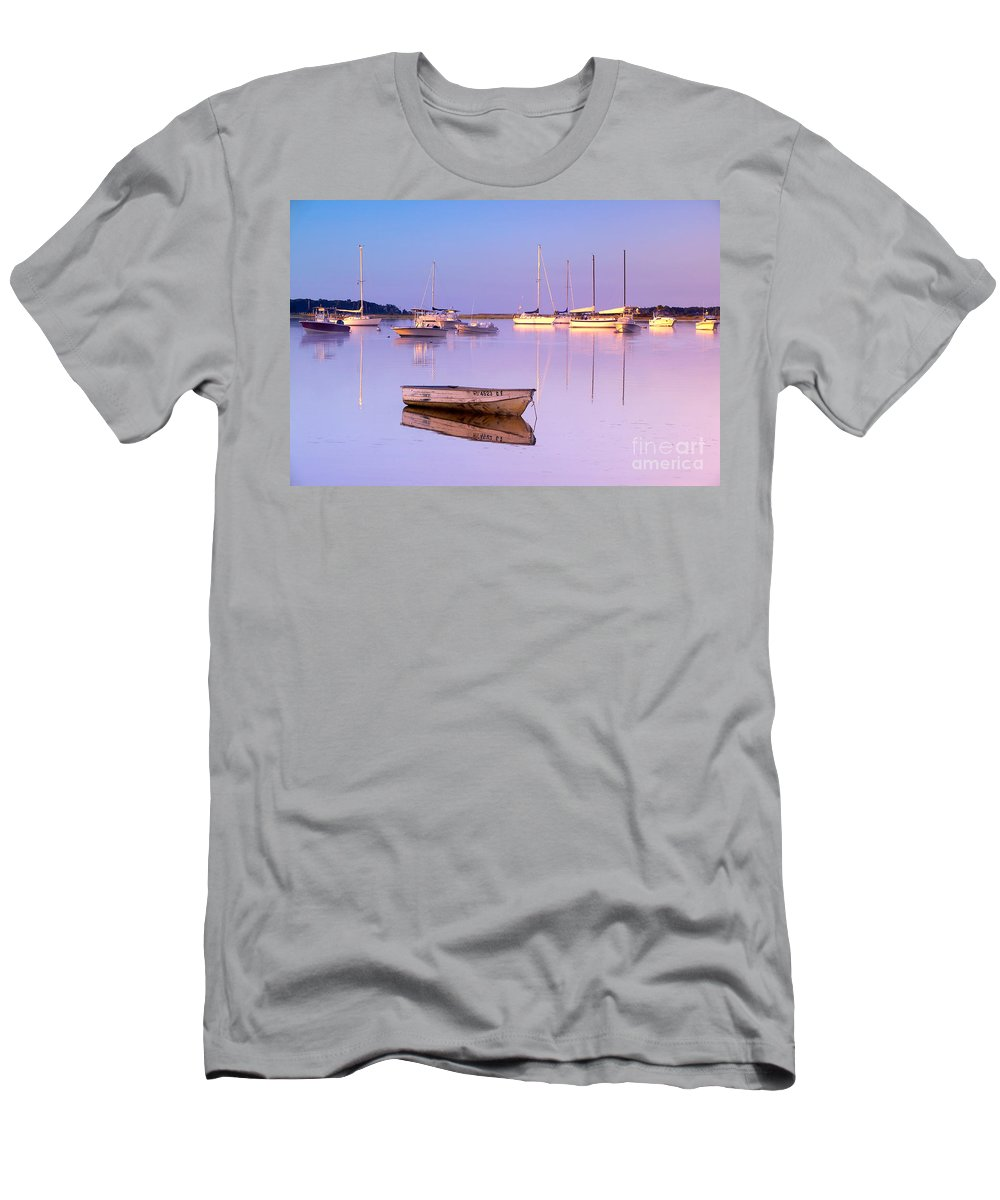 Sunrise Men's T-Shirt (Athletic Fit) featuring the photograph Sunrise At West Bay Osterville Cape Cod by Matt Suess