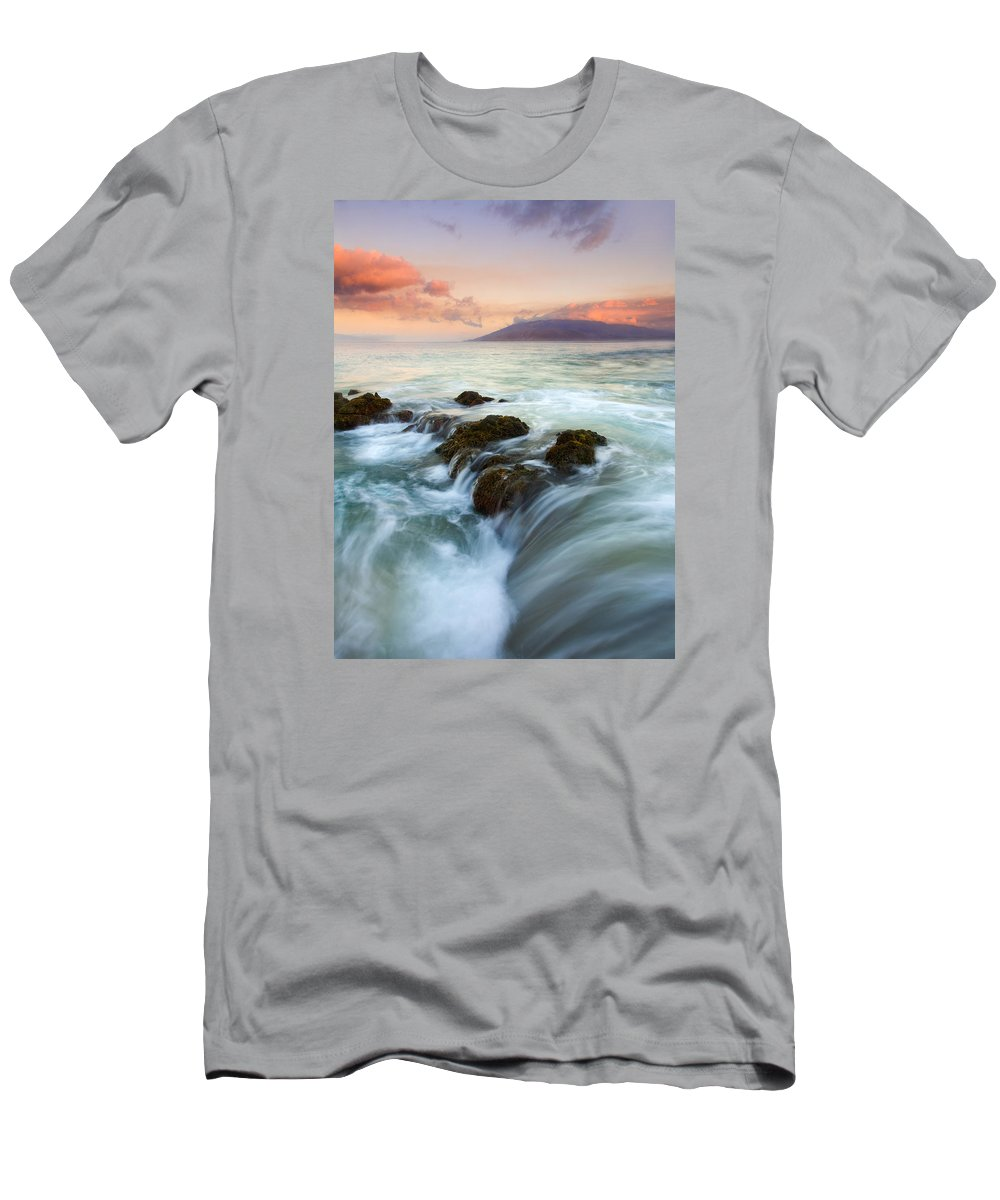Sunrise Men's T-Shirt (Athletic Fit) featuring the photograph Sunrise Drain by Mike Dawson