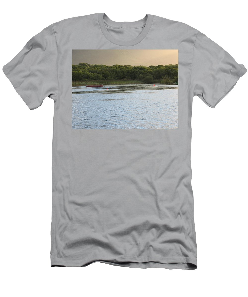 Boat Men's T-Shirt (Athletic Fit) featuring the photograph Sunset Over Killarney by Kelly Mezzapelle